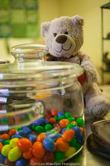 The Keeper of The Jar (jomak14) Tags: valentinesday candyjar tiltshift canoneos1ds photex35mmf28 bearytheteddy