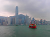 Some color in a dull day (Pavlov'sDog) Tags: china sea ferry hongkong bay mar barco ship transport bahia hongkongbay
