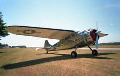 Cessna 195 at Arlington Municipal Airport (Svein K. Bertheussen) Tags: minolta aircraft epson cessna cessna195 scannedphotos arlingtonairport