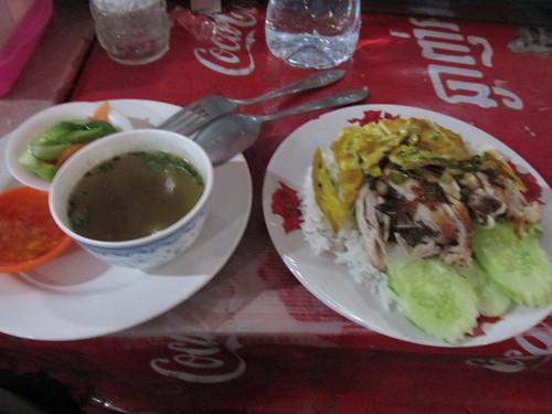 Repas au marché, Cambodge