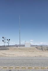 Desert Railroad (autobahn66.com) Tags: california sky clouds train landscape desert minimalist saltonsea