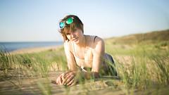 enjoying summer (Petar Stoykov) Tags: summer portrait seascape beach nature netherlands girl sunshine 35mm canon eos photoshoot bokeh scheveningen denhaag northsea portraiture fullframe canondslr landsape travelphotography canon35mm14l