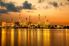 Petrochemical plant (Patrick Foto ;)) Tags: morning blue light sunset chimney sky plant industry metal closeup night sunrise thailand golden evening twilight construction rotterdam energy industrial factory technology tank smoke pipe engineering structure storage steam gas equipment pollution chemistry oil production environment gasoline heavy refinery pipeline engineer th fuel sustainable global chemical petroleum manufacturing pollute petrochemical pollutant refine refinement changwatsamutprakan tambonbangkobua