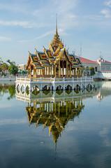 Bang Pa In Palace (dltaylorjr) Tags: summer reflection river thailand mirror royal palace kings thai chao pavillion asana phraya aisawan dhiphya