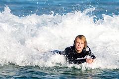 Back to beach -Tallow Beach Surfers (sbyrnedotcom) Tags: blue sea beach sports surf waves action australia surfing nsw surfers tamron byronbay tallowbeach