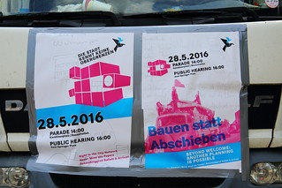 Demonstration/Parade/Performance/Public Hearing - Hamburg 28.05.2016 beyond welcome: another planning is possible right to the city - never mind the papers - schwabinggrad ballett