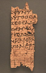 Scroll fragment of the Odyssey (zgrial) Tags: california losangeles roman handheld papyrus gettymuseum odyssey scroll pacificpalisades fragment museumpiece gettyvilla zgrial