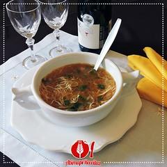 Sopa de Cebola e Macarro (Almanaque Culinrio) Tags: food recipe comida gastronomia culinria receita