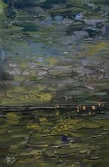Marina en verdes, azules, ocres y sienas. (Arturo Espinosa) Tags: arty oilpaletteknife artypainting