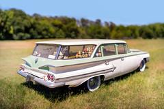 Wagon (jhary) Tags: classic car canon vintage wagon may 85mm f12 canonfd bokehpanorama brenizermethod sonya7s