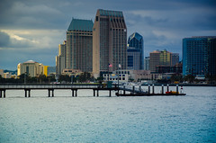 Across the Bay - A Watery Foundation (MissMae) Tags: water sandiego 52in2016 week23 themewaterliquid explored usflag bay