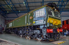 66779 (47843 Vulcan) Tags: york gm nationalrailwaymuseum eveningstar class66 9f gbrf 66779 brlinedgreen lastclass66built