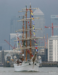 ARM Cuauhtemoc at Woolwich, London, Monday, June 13, 2016. (olliepix) Tags: london june thames training river mexico ship arm navy wharf sail canary monday 13 woolwich cuauhtemoc 2016