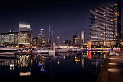 Reflections at Docklands (Leanne Cole) Tags: longexposure nightphotography night marina boats cityscape photographer photos australia melbourne images victoria environment docklands fineartphotography melbourneskyline environmentalphotography fineartphotographer nikond800 environmentalphotographer leannecole leannecolephotography