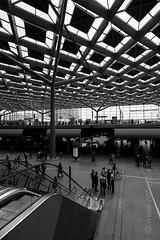 Den Haag Centraal (rabe-pix) Tags: 2 bw holland monochrome station xpro den bahnhof hague hauptbahnhof sw fujifilm 12mm haag cental centraal the niederland touit