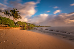 Kauai Kailani sunrise (PIERRE LECLERC PHOTO) Tags: longexposure travel sea blackandwhite beach landscape hawaii pacificocean kauai kapaa pierreleclercphotography