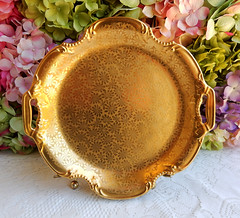 Vintage Pickard Porcelain Tray ~ Gold Encrusted ~ Flowers (Donna's Collectables) Tags: flowers vintage gold tray porcelain ~ encrusted pickard