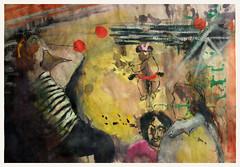 kleiner Radfahrer im Gleisdreieckpark (Alemwa) Tags: life people playing berlin sports illustration kreuzberg movement child mother human workout fitness figur lifedrawing mensch pleinair dawing weekendactivities parkamgleisdreieck alemwa
