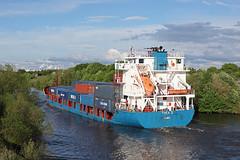 'Thea II' Cadishead 22nd May 2016 (John Eyres) Tags: way thea ii wharf passing manchestershipcanal irlam cadishead 220516
