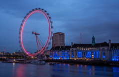 Revolution (martyndt) Tags: city sky london eye water wheel thames night long exposure cityscape