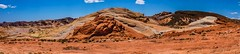 Neapolitan (EXPLORE #10) (evanffitzer) Tags: blue sky panorama valleyoffire outdoors ancient rocks nevada trails hike hills formation pan geology firewave seabed evanffitzer evanfitzer fujifilmx100s