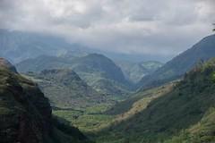 Kauaian landscape (Igor Sorokin) Tags: travel usa mountains clouds landscape island hawaii us haze nikon zoom scenic aerial telephoto kauai vista nikkor dslr sunlit 18300 d5300