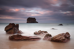 BALLOTA (Obikani) Tags: longexposure sea espaa seascape beach landscape island spain asturias seashore llanes ballota visipix canonikos
