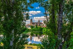 With Sade... (juapero) Tags: landscape arquitectura catedral paisaje salamanca reflejos juapero