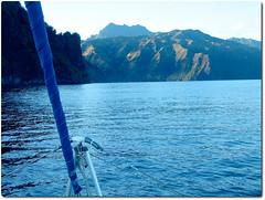 Fatuhiva_early morning arrival (Slackadventure) Tags: sun water boats islands sailing pacificocean cruisers circumnavigation marquesas slackadventure