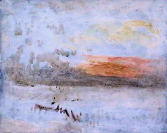 IMG_1810N Joseph Mallord William Turner. 1775-1851. Londres. Sunset Seen from a Beach with Breakwater.  Coucher de soleil vu d'une plage avec brise-lames. vers 1845.       Londres Tate Britain (jean louis mazieres) Tags: greatbritain london museum painting joseph unitedkingdom william muse londres museo turner peintures tatebritain peintres grandebretagne mallord