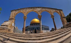 The Dome of the rock in Ramadan (TeamPalestina) Tags: heritage beautiful architecture sunrise hope amazing photographer sweet palestine jerusalem domeoftherock blockade ramadan freepalestine alaqsa palestinian occupation goldendome  oldcityjerusalem landscapecaptures