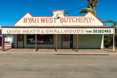 Nyah West (Westographer) Tags: shop rural typography australia victoria oldschool handpainted signage verandah weatherboard butchershop countrytown nyahwest