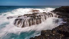 Ocean's fury at Queen's Bath, Kauai (PIERRE LECLERC PHOTO) Tags: ocean travel sea hawaii coast rocks waves pacific tide shoreline shore kauai coastline swell current aloha fury queensbath pierreleclercphotography hawaiianislandswater