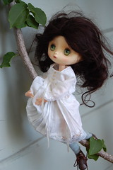 Climbing (Emily1957) Tags: elodie chuthings climbing whitedress light naturallight nikond40 nikon kitlens dolls doll toys toy obitsu