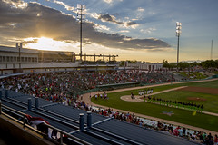 Fourth of July Baseball Game (PimaCounty) Tags: sunset field kino audience baseball tucson crowd fourthofjuly stands veteransmemorialpark