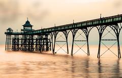 Clevedon pier (Rupinder Khural) Tags: sea seafront landscape water pier sunset nikond300s nikon leefilters longexposer d300s sky clouds view evening clevedon somerset outdoor coast england community explore wow