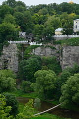 view from the bridge (intui.pro) Tags: old plant history tourism nature stone architecture river outdoor stones stonework text reserve ukraine canyon palaces kamianetspodilskyi