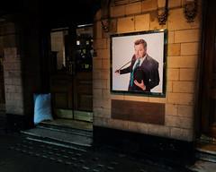 Sleeping Place (stevedexteruk) Tags: homeless pillow doorway door theatre london step uk 2016 night dark povery eddie izzard force majeure palace