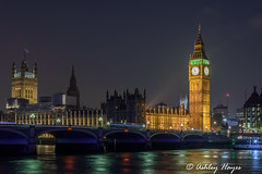 Houses of Parliament (Ashley I Hayes) Tags: england london westminster thames cityscape nightscape unitedkingdom housesofparliament bigben gb