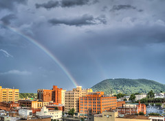 Rainibow After the Storm Roanoke June 21st (Terry Aldhizer) Tags: sky mountain storm reflection mill rain weather clouds star rainbow roanoke terry after aldhizer terryaldhizercom