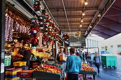 Fruit Stall (Albert Jafar) Tags: seattle people market ngc vendor pikeplacemarket downtownseattle fruitstall photographerswharf fruitsvegies