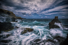 Wrath of the sea (L.Matero) Tags: sea sky canon rocks long exposure waves wind windy greece crete angry offensive wrath f4 6d rethymno 1635 rethymnon