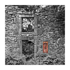 The Last Post (Squatbetty) Tags: windows empty lakedistrict shell cumbria postbox disused gr royalmail selectivecolour matterdaleend iknowtheprocessingischeesy