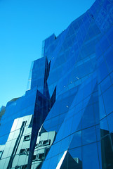 Warped Glass (bobarcpics) Tags: curtainwall blue reflections frankgehry educationbuilding sydney contemporaryarchitecture