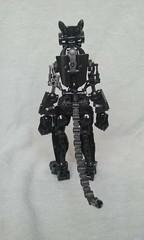 Feline Noire V2 (ohlookitsanartist) Tags: cat feline noire bionicle own creation moc lego black armor paws tail ears orange ccbs cute robot neko robotic