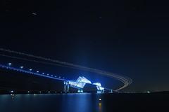 P6260253 (Zengame) Tags: bridge japan architecture night pen tokyo illumination landmark olympus illuminated cc jp creativecommons   zuiko   penf    wakasu   mzuiko  tokyogatebridge 12mmf20 mzuikodigitaled12mmf20