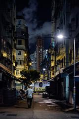 DSCF2051 Moonless Night at the alley (Scofield Chan) Tags: street night alley snapshot hong kong fujifilm streetphoto fujinon hongkongculture streetsnap xt1
