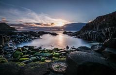 Giant's Causeway, Northern Ireland (Wojtek Piatek) Tags: ocean ireland sunset sun seascape clouds zeiss landscape golden rocks long exposure sony nd northernireland hours giants causeway ulster antrim a99 aony