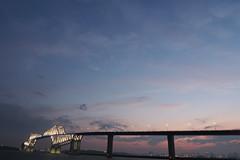 P6260238 (Zengame) Tags: bridge japan architecture night pen tokyo illumination landmark olympus illuminated cc jp creativecommons   zuiko   penf    wakasu   mzuiko  tokyogatebridge 12mmf20 mzuikodigitaled12mmf20