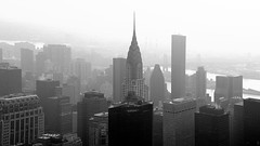 B&W, Cut, Chrysler building, East river, Mid town, Views from the Empire State building, Observation deck, New York (Fco. Javier Cid) Tags: bw cut chryslerbuilding eastriver midtown viewsfromtheempirestatebuilding observationdeck newyork